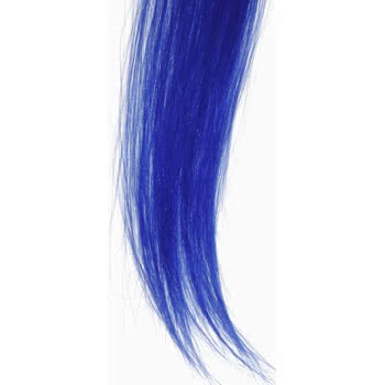 Blue Banana Clip On Hair Extension Piece (Blue)