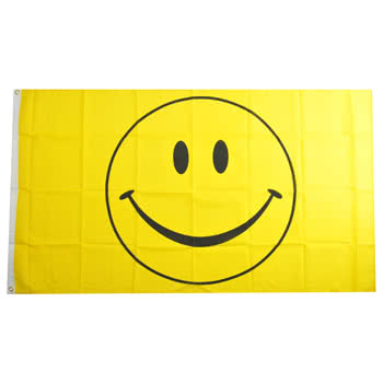 Blue Banana Smiley Flag (Yellow)