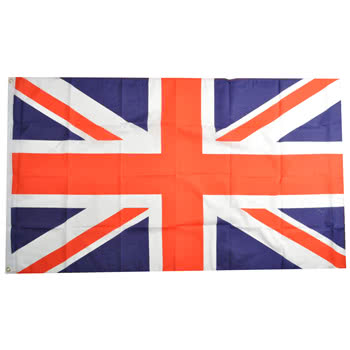 Blue Banana Union Jack Flag