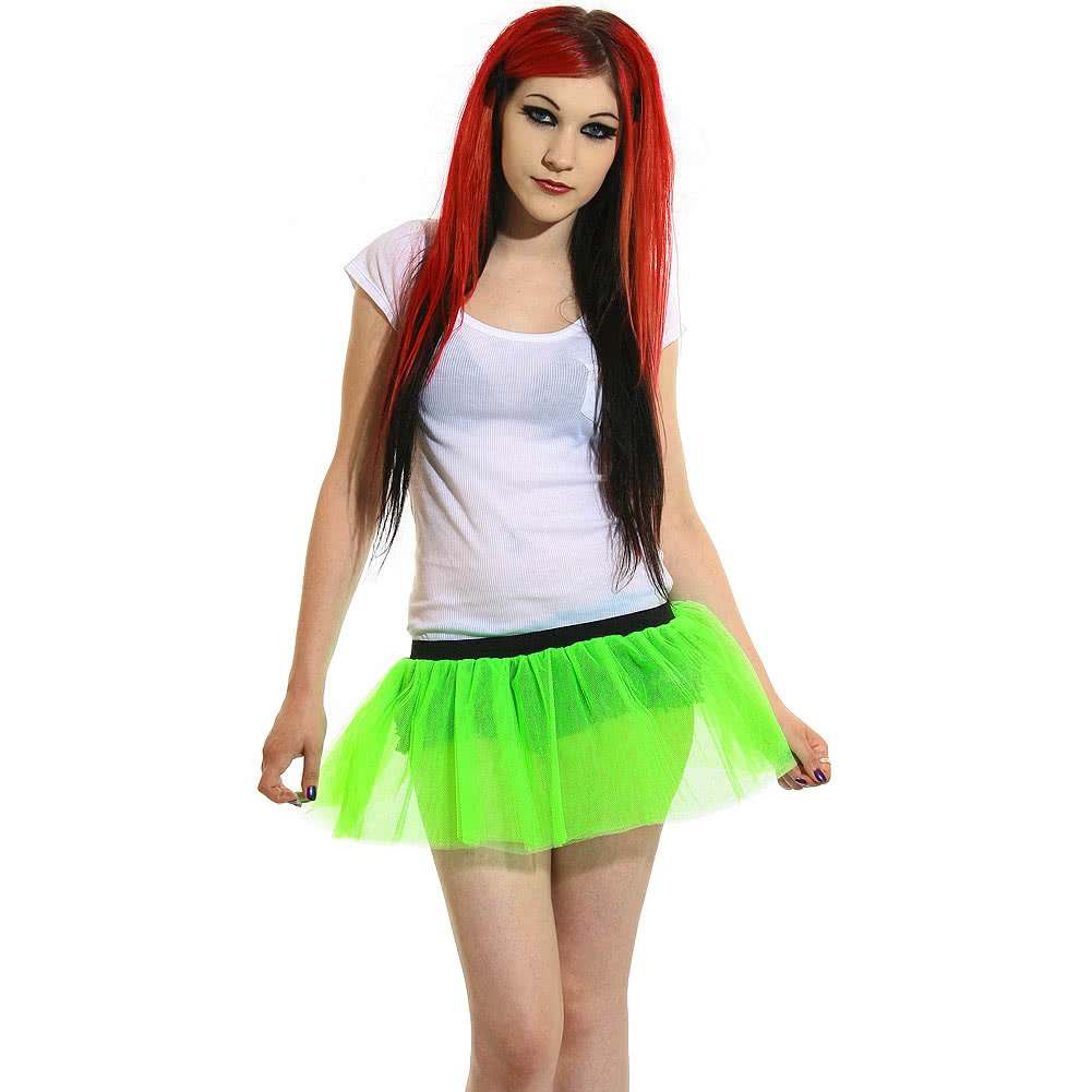 Insanity Neon Imp Tutu Skirt (Green)