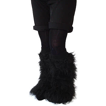 Insanity Fluffy Leg Warmers (Black)