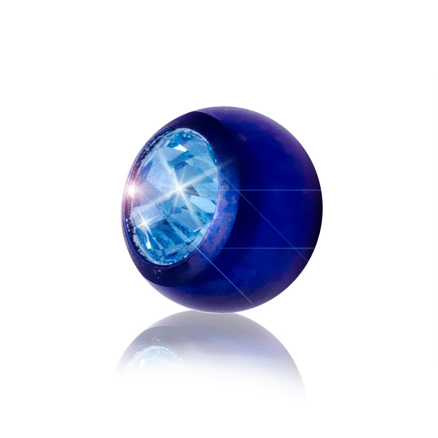 Blue Banana Coloured 5mm Jewel Ball (Blue/Aqua)