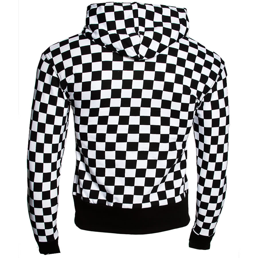 Essential Chess Checker Print Hoodie (Black/White)