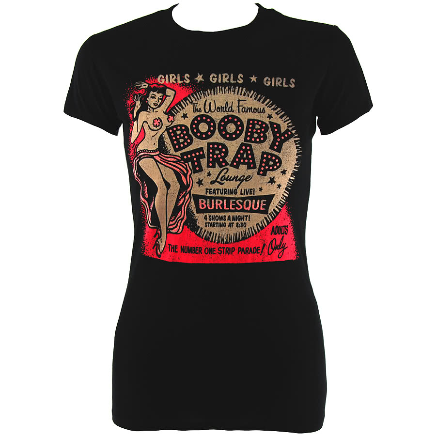 Lucky 13 Booby Trap Girlfriend T Shirt (Black)