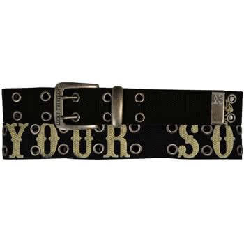 Brand Names Lucky 13 Lucky 13 Tattoo Your Soul 2Hole Belt Black