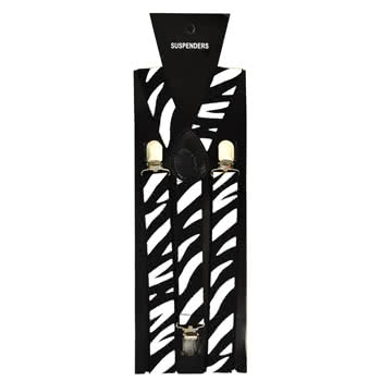 Blue Banana Zebra Braces (Black/White)
