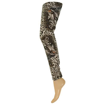 Blue Banana Leopard Face Leggings (Leopard)