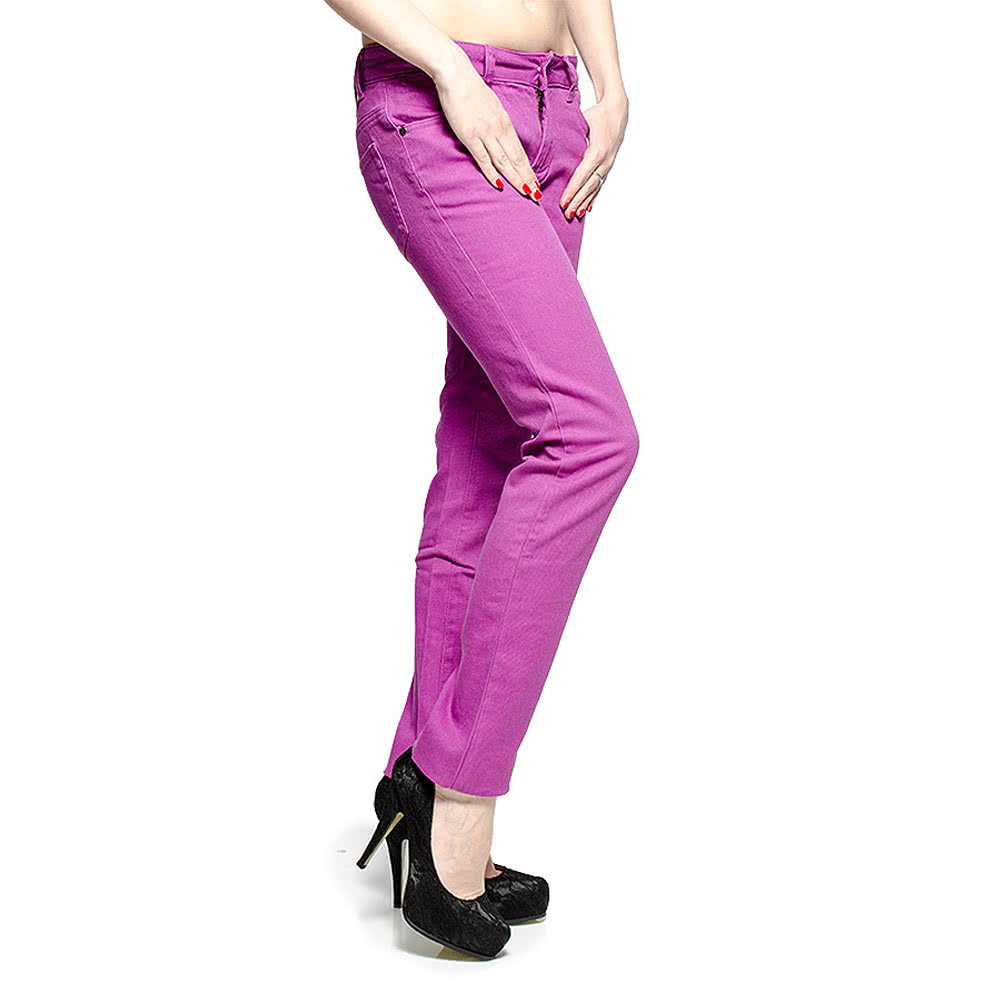 Bleeding Heart Plain Skinny Fit Jeans (Purple)