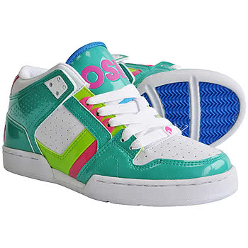 Osiris NYC 83 Design Girls Mid Top Trainer Boots (White/Green). No reviews.