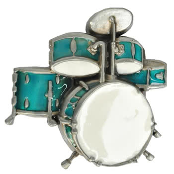 Blue Banana Drums Buckle