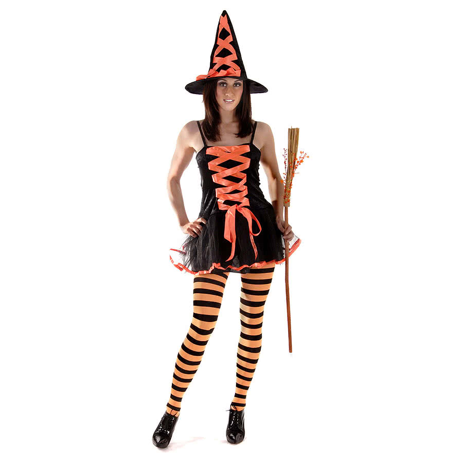 Sexy Witch Fancy Dress Costume (Orange)