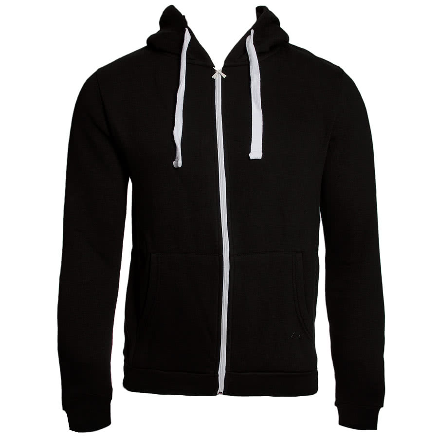 Criminal Damage Plain Skinny Fit Hoodie (Black)