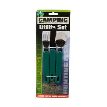 3 Piece Camping Utility Set (Green)