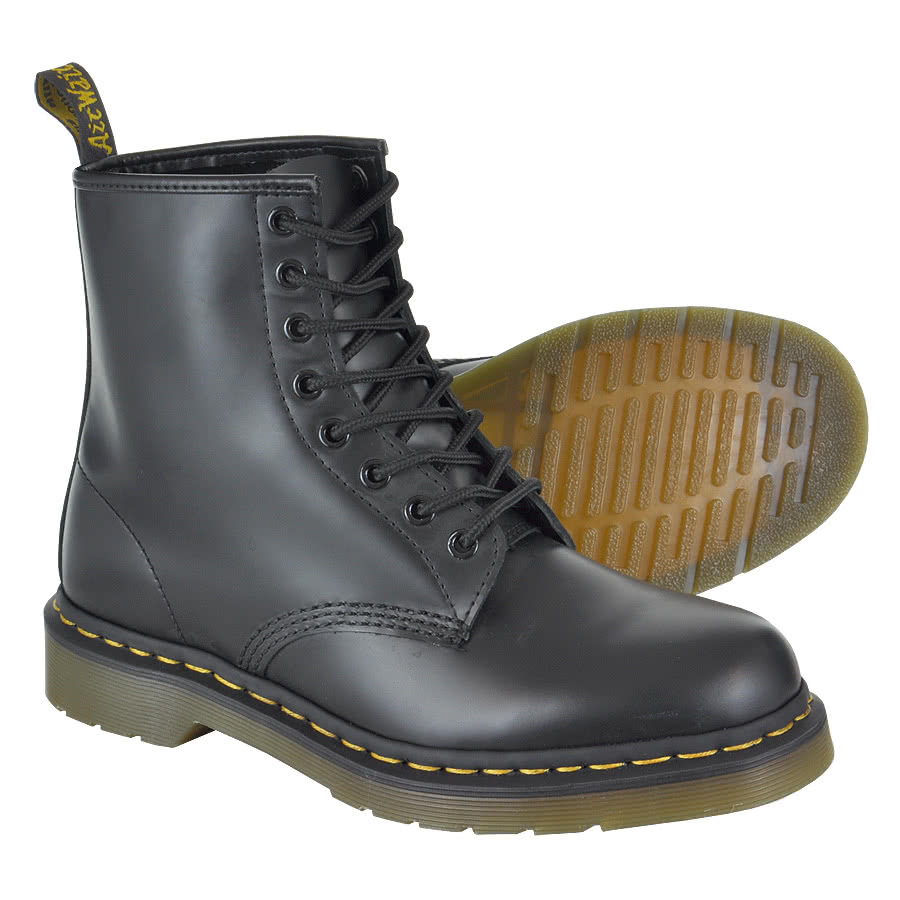 dr martens 1460 smooth stiefel 8loch leder doc schuhe boots schwarz docs boot ebay. Black Bedroom Furniture Sets. Home Design Ideas