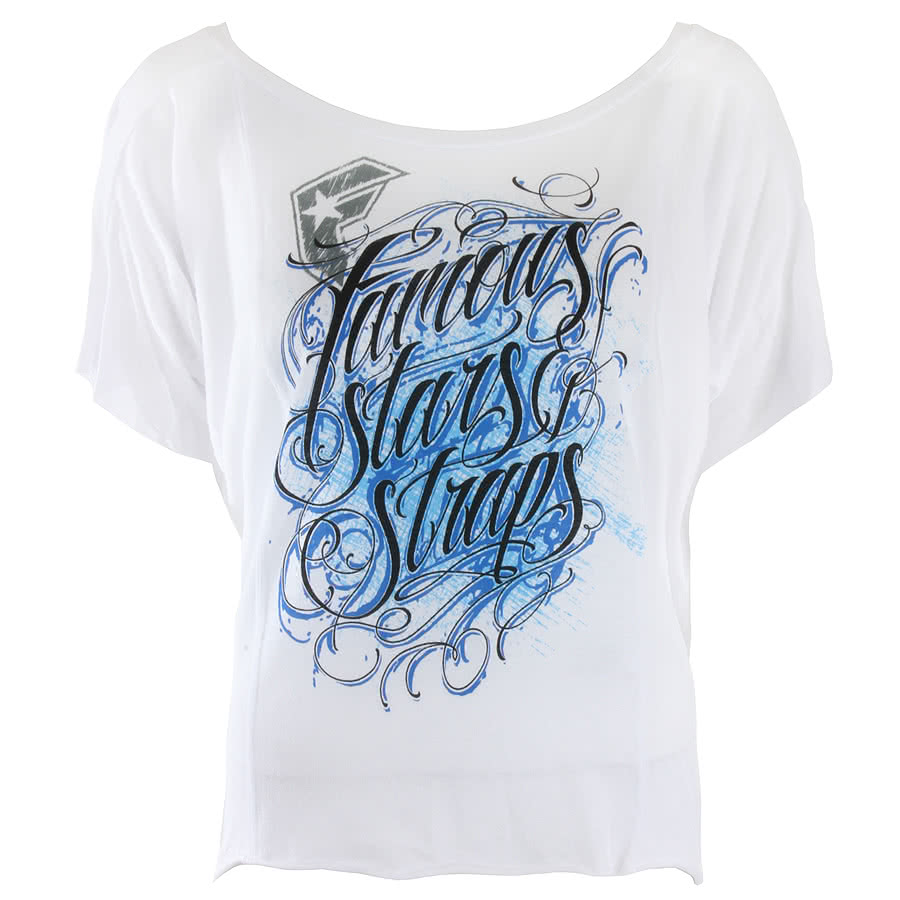 Famous Stars and Straps Sketcher Skinny Fit T Shirt (White)
