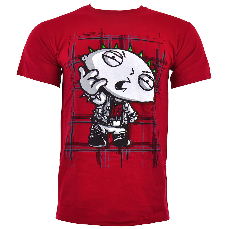 Family Guy Anarchy Stewie Print T Shirt (Red)