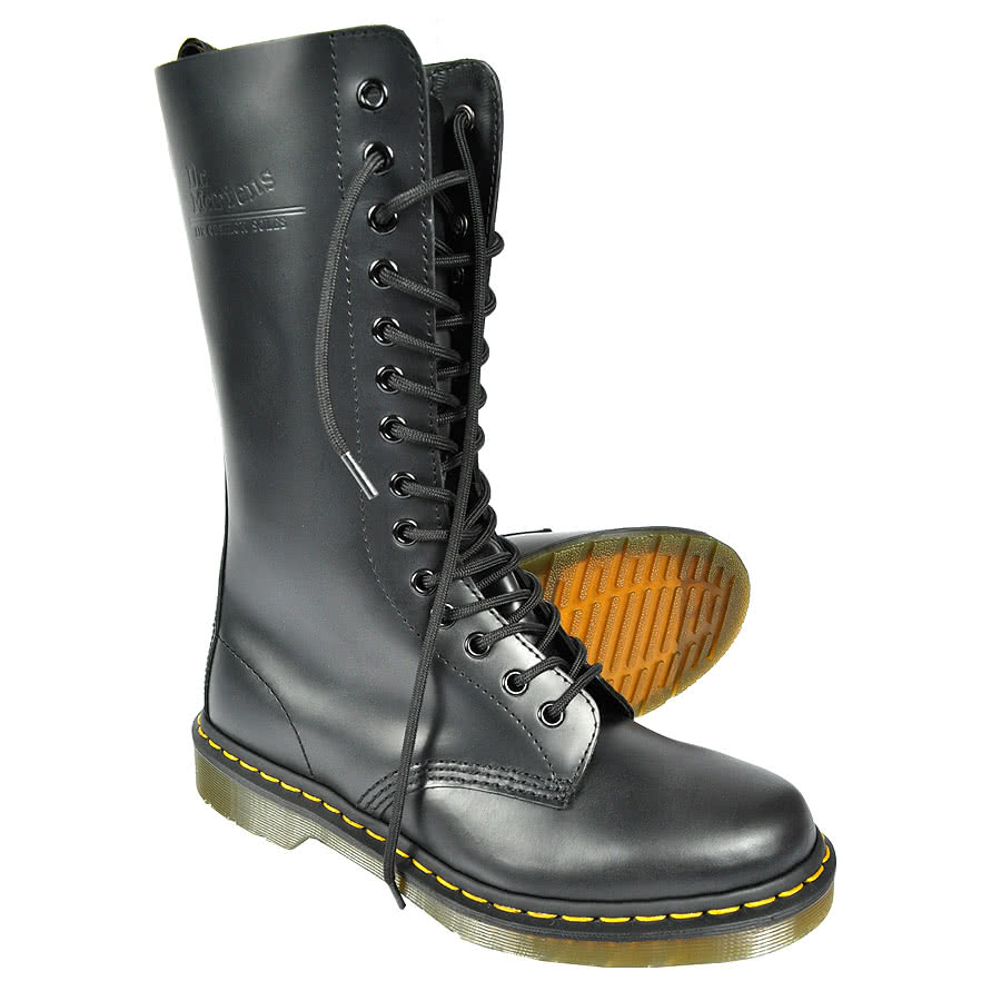 dr martens 1914 stiefel schwarz leder herren damen 11855001 black doc smooth neu ebay. Black Bedroom Furniture Sets. Home Design Ideas