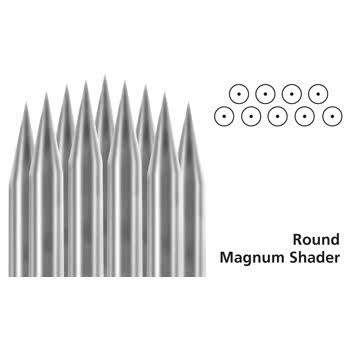 Box of 50 Round Magnum Shader Needles (Group 5-9)