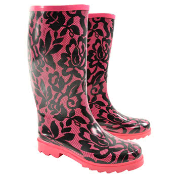 Blue Banana Lace Wellies (Pink)