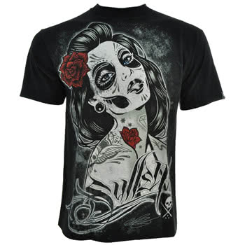 Sullen Backstabber Shirt Girls Skinny Tees Tatt