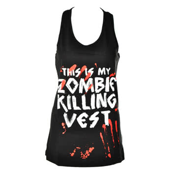 Goodie Two Sleeves Zombie Killer Vest Top (Black)