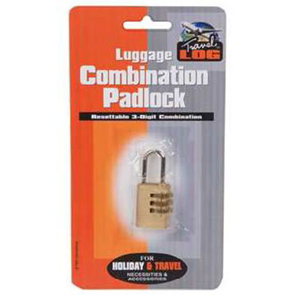 Blue Banana Brass Combination Lock