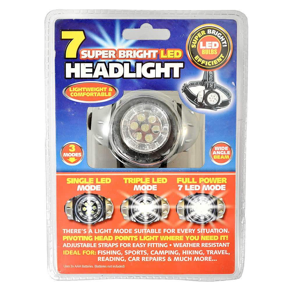 Adjustable Headlight Torch With 7 LED Bulbs