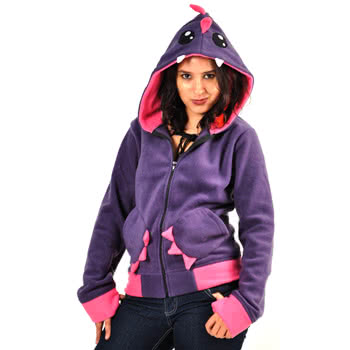 Blue Banana  Cupcake Cult By Poizen Industries Monster Candy Design Hoodie (Pink)