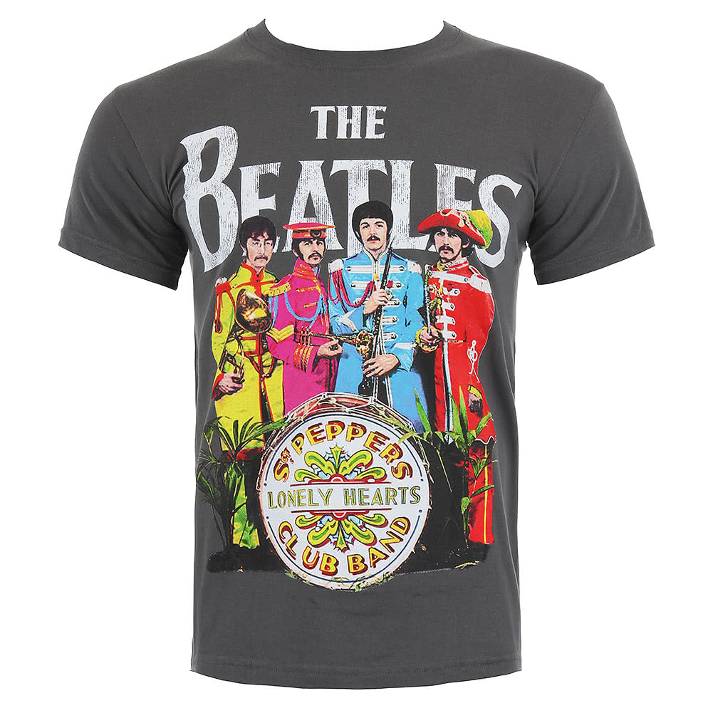 The beatles sgt pepper print t shirt blue banana uk for Print photo on shirt