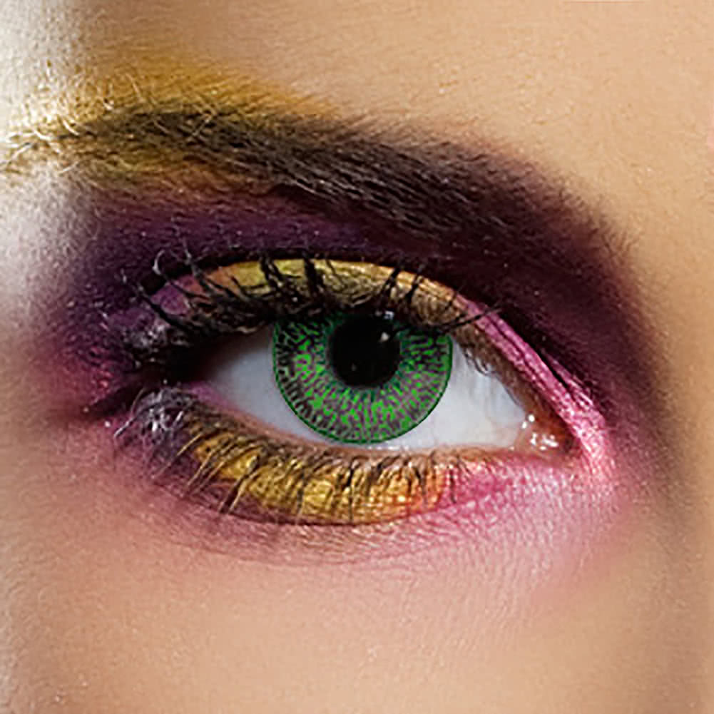 Edit Mystic 90 Day Coloured Contact Lenses (Green) Pair