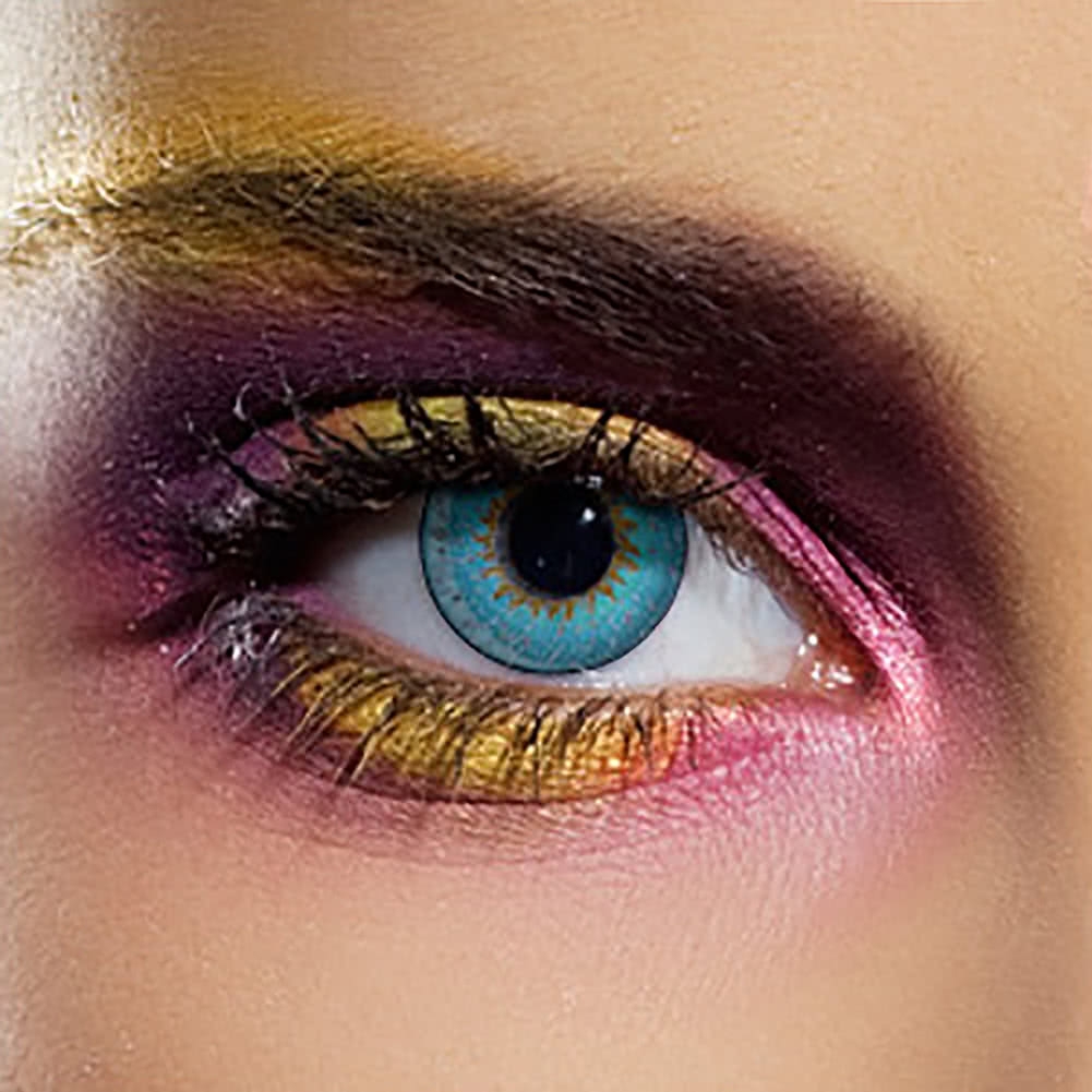 EDIT 90 Day Coloured Contact Lenses (Tri Tone Aqua)