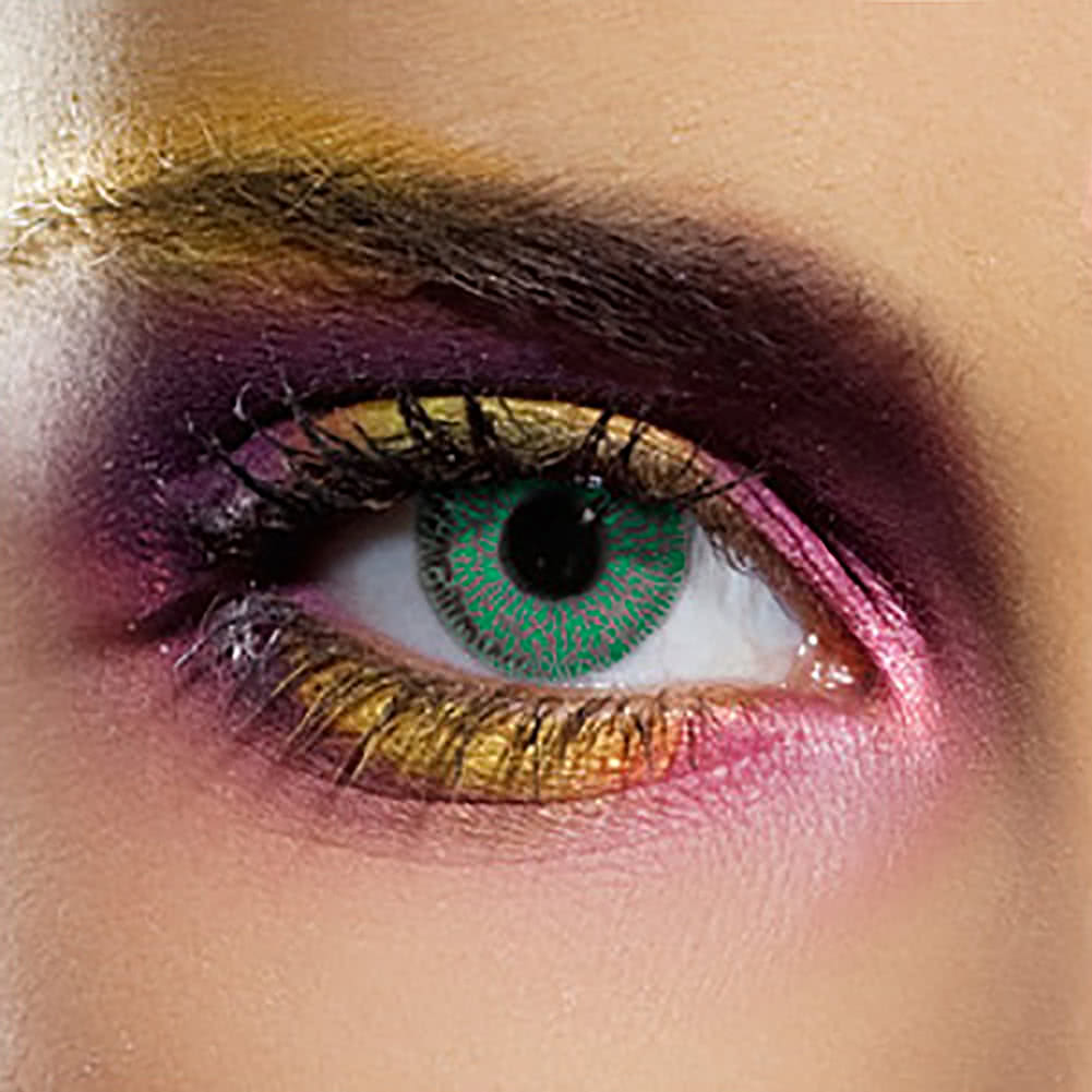 EDIT 90 Day Single Tone Coloured Contact Lenses (Green)