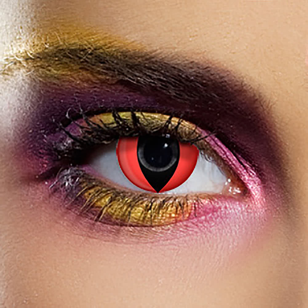 EDIT 90 Day Cat UV Coloured Contact Lenses (Red)