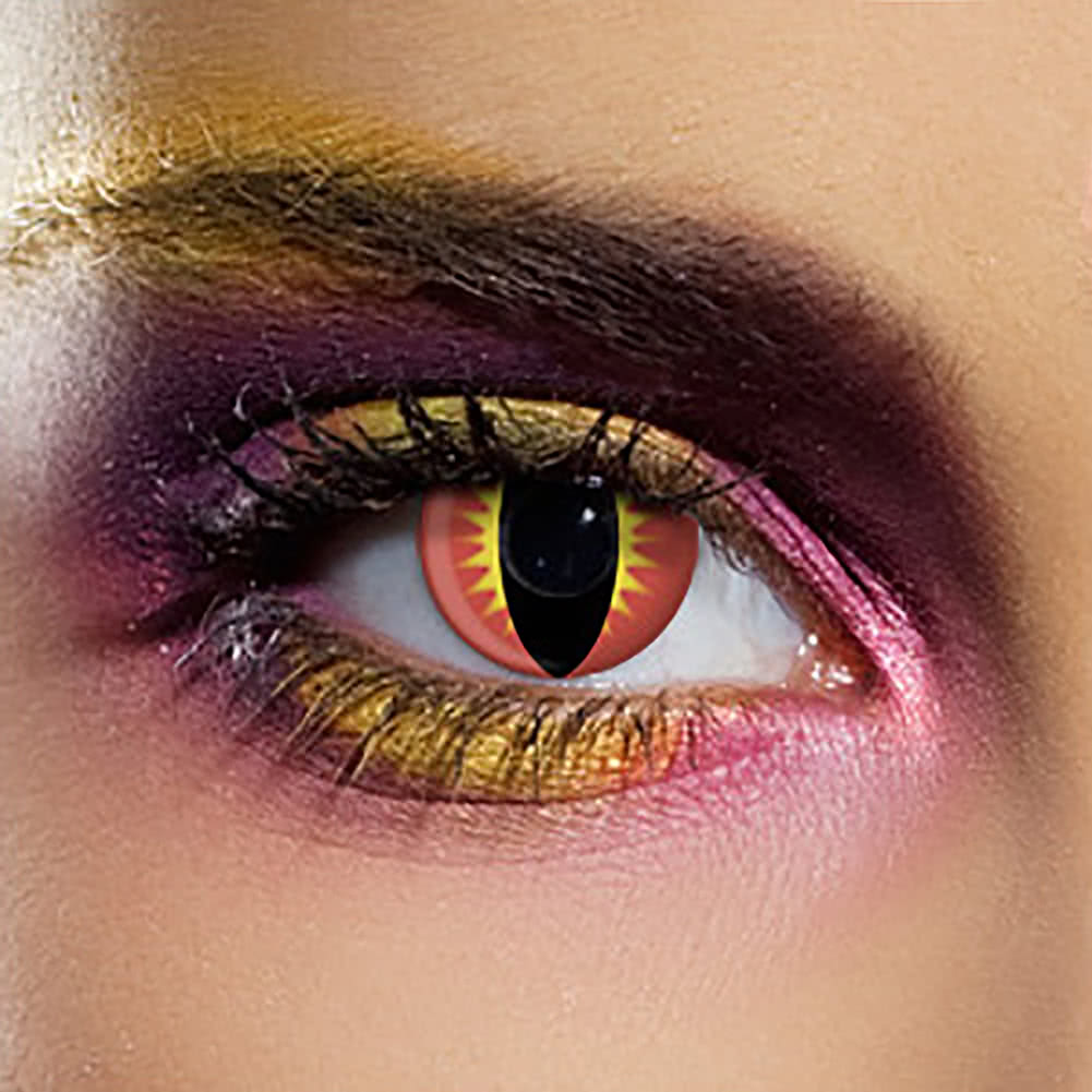 EDIT 90 Day Dragon Eye Coloured Contact Lenses (Red)