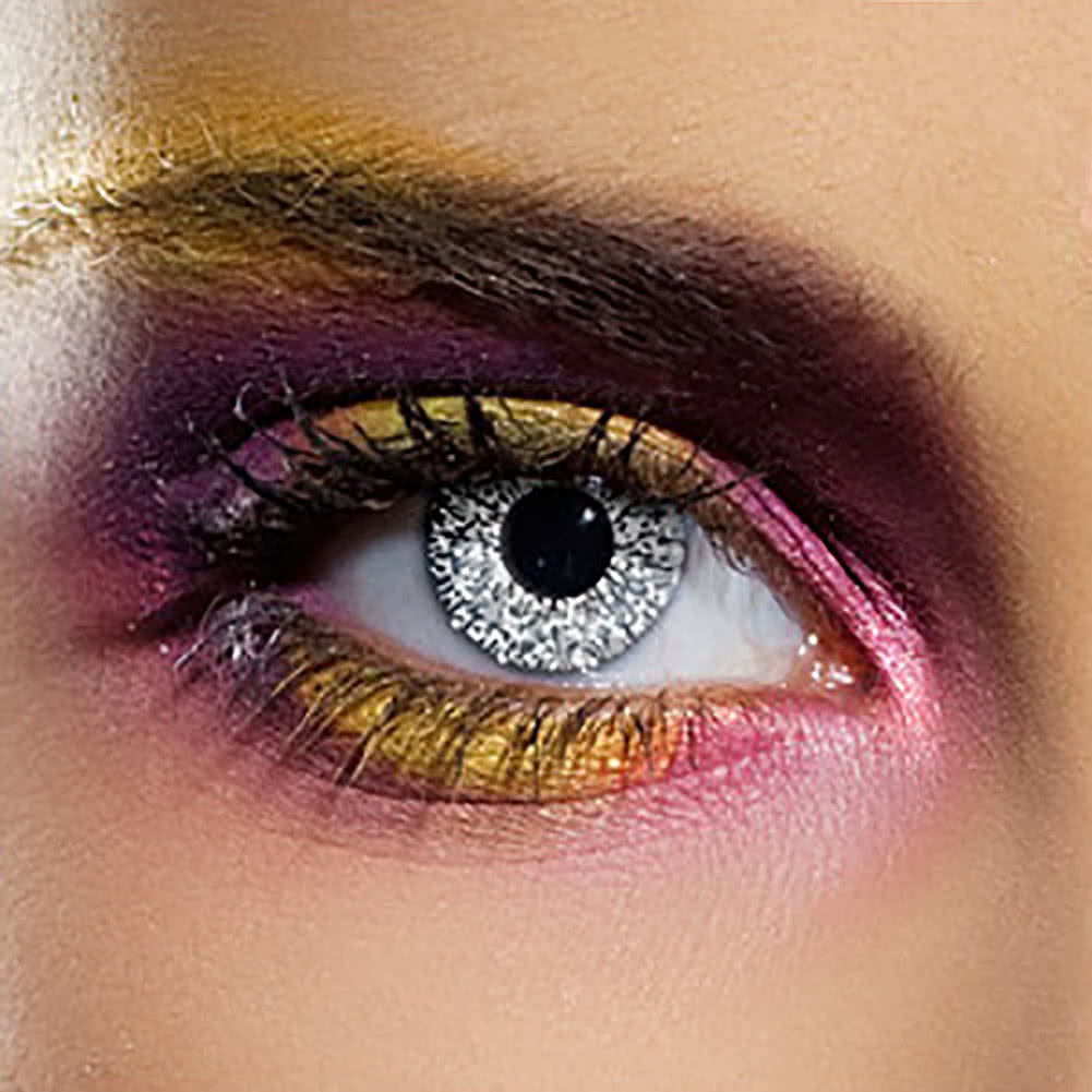 EDIT 90 Day Glimmer Coloured Contact Lenses (Silver)