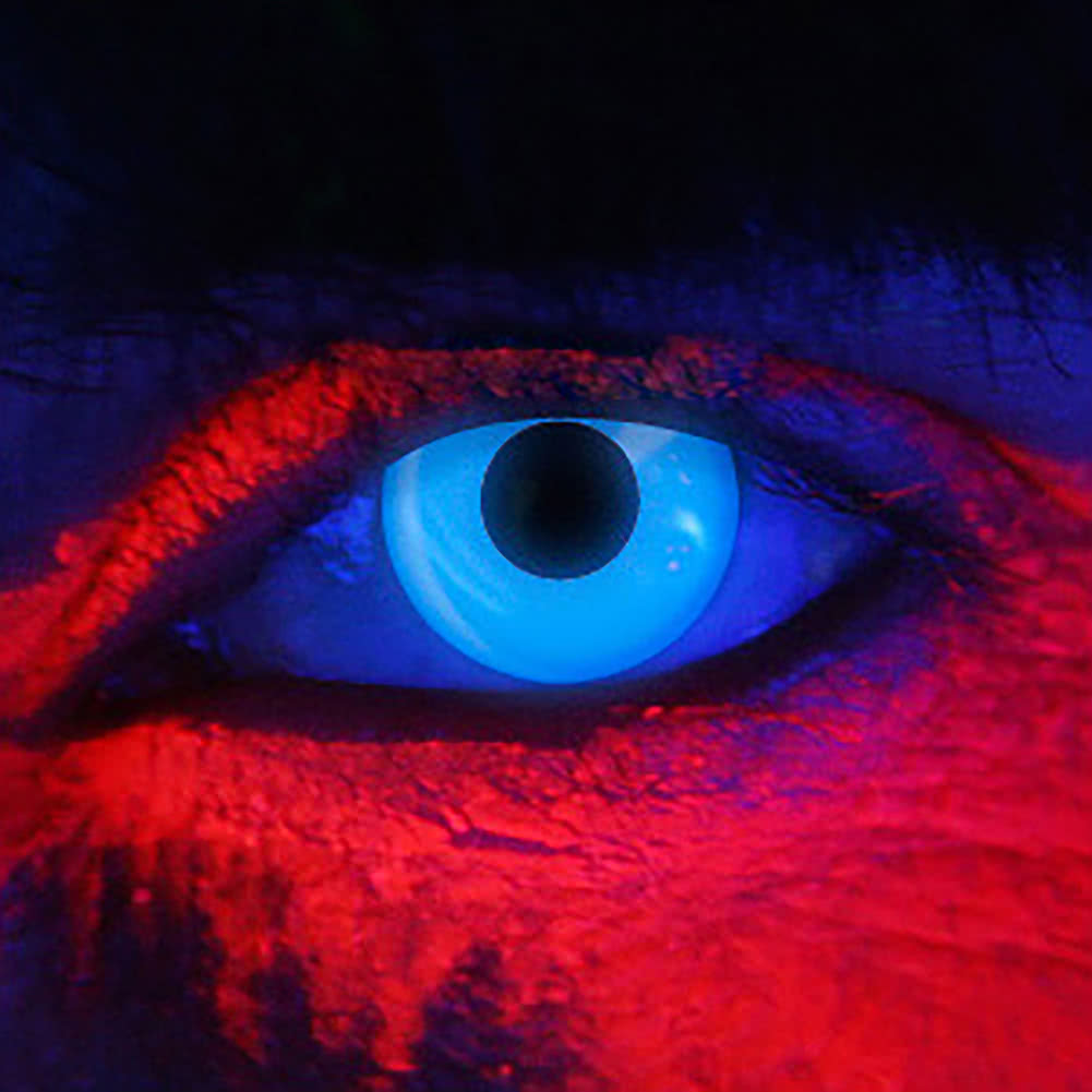 EDIT 90 Day I Glow UV Coloured Contact Lenses (Blue)