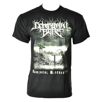 Cerebral Bore Maniacal Miscreation Print T Shirt (Black)