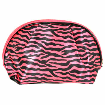Blue Banana Zebra Make Up Bag (Pink)