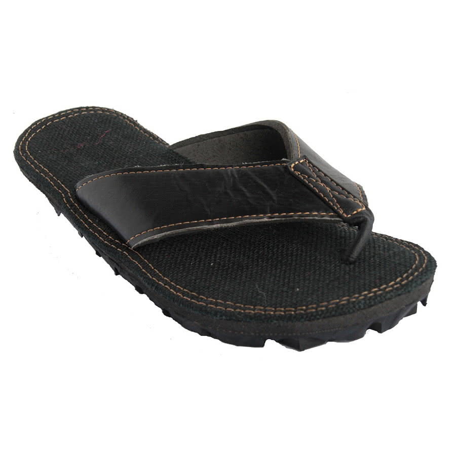 Maasai Treads Mens Flip Flops (Black)