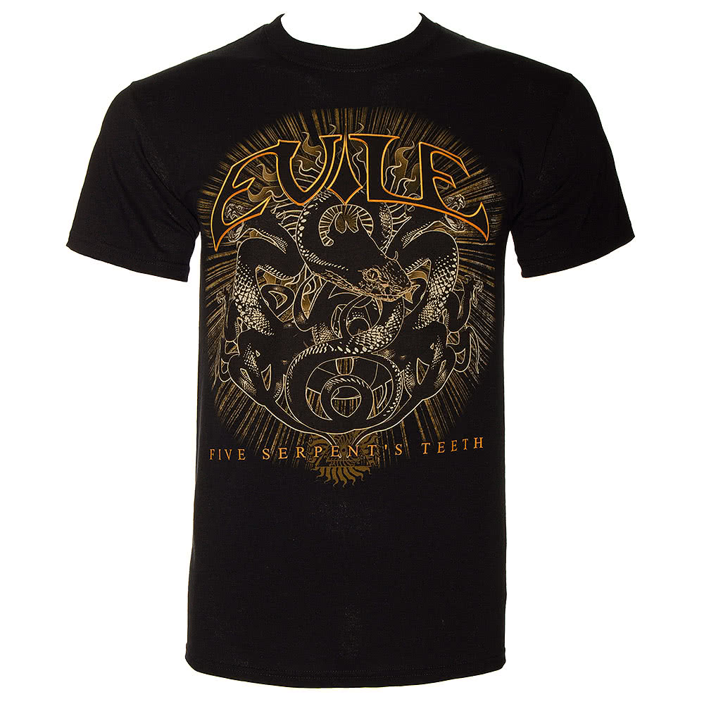Evile Five Serpent's Teeth T Shirt (Black)