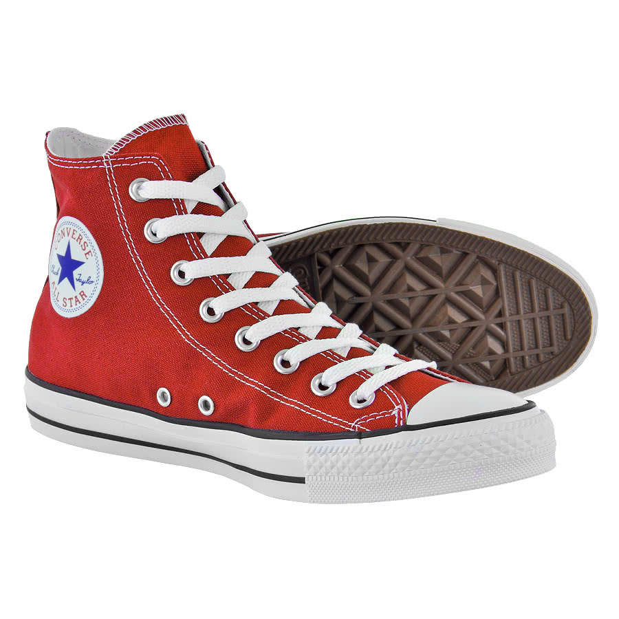 Converse All Stars Red High Top Boots