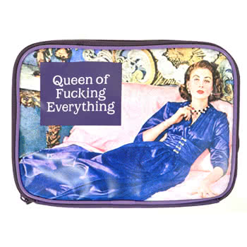 Queen of F**king Everything Make Up Bag