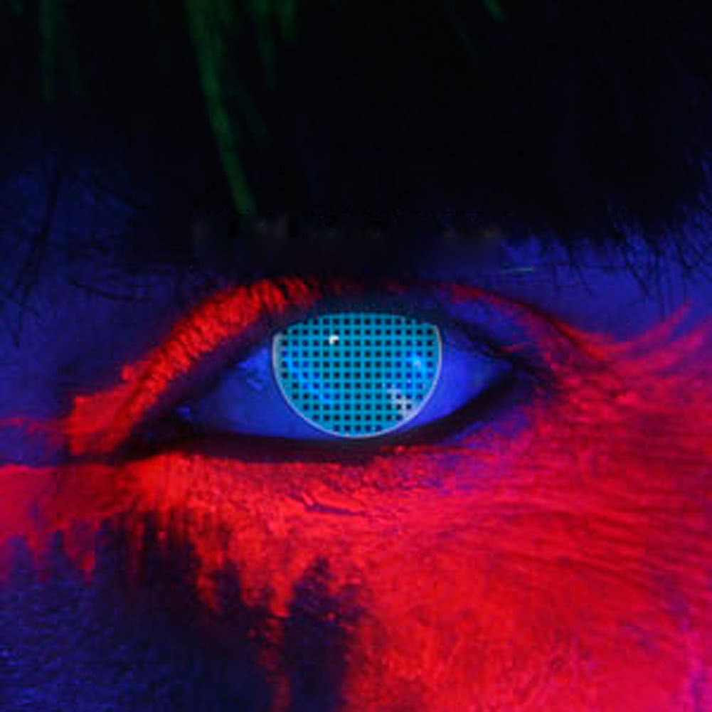 Edit I Glow UV Blue Screen Yearly Coloured Contact Lenses (Blue) Pair