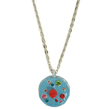 Blue Banana Cupcake Necklace (Blue)