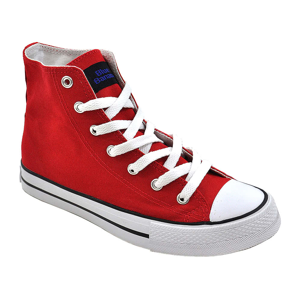 Blue Banana Canvas Hi Tops (Red)