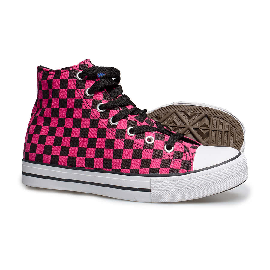 Blue Banana Check Boot (Pink)