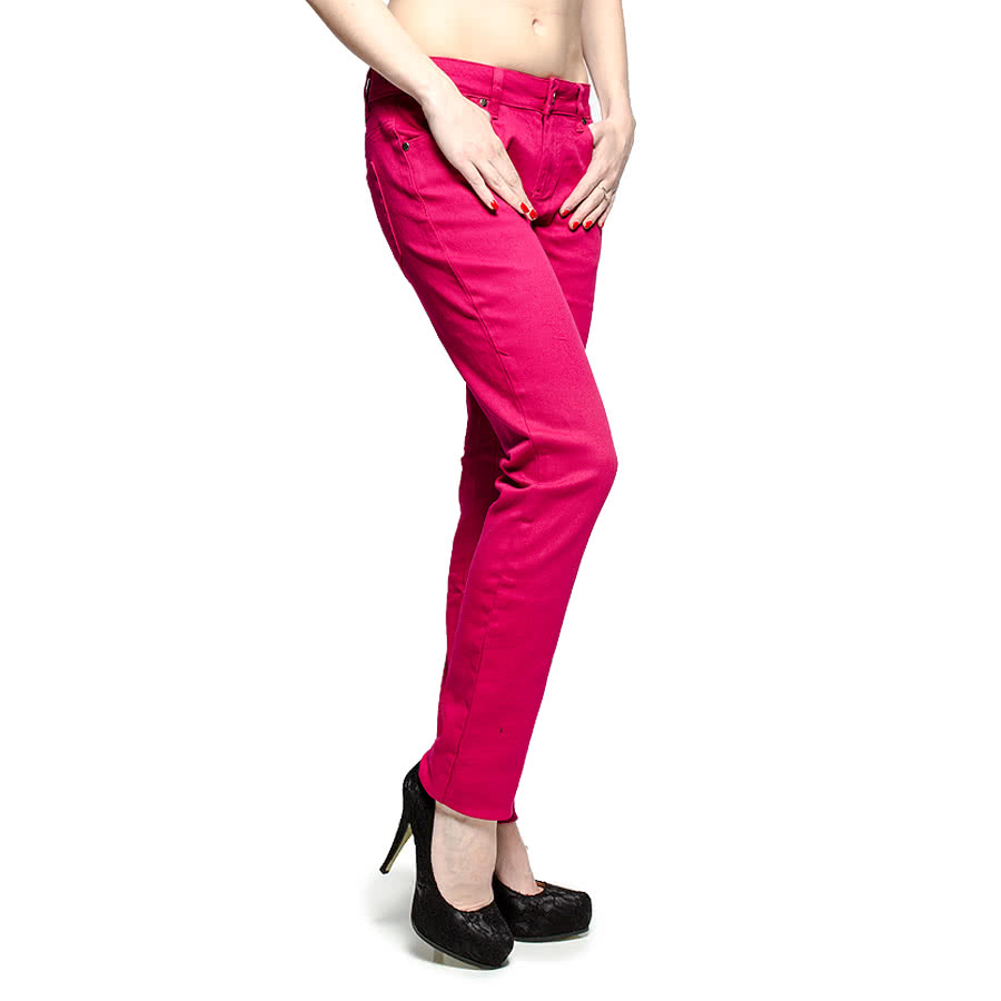 Bleeding Heart Plain Skinny Fit Jeans (Rose)