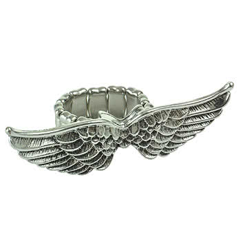 Blue Banana Wings Ring (Silver)