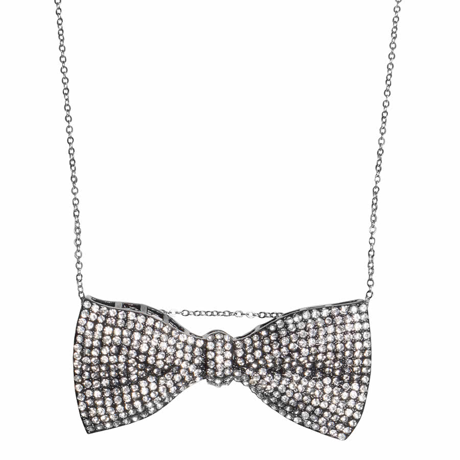 Blue Banana Bow Necklace (Black)