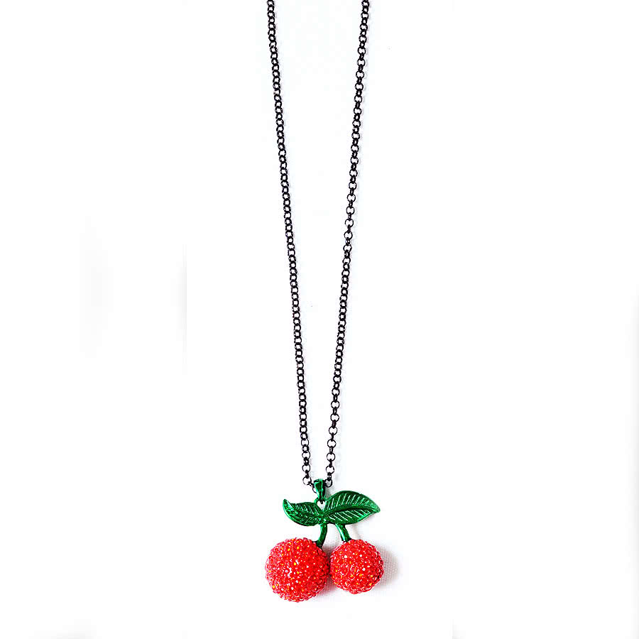 Blue Banana Cherry Necklace